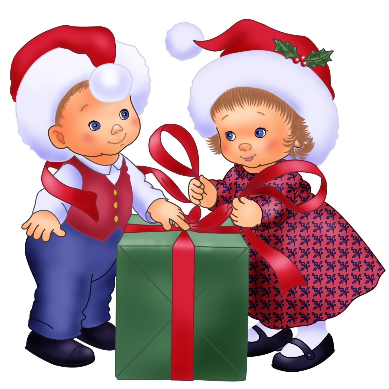 Детские новогодние картинки детские с подарками